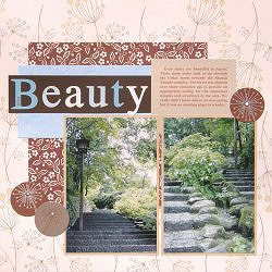 Scrapbooking Layout Sample