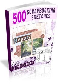 500 Scrapbooking Sketches Downloadable Book